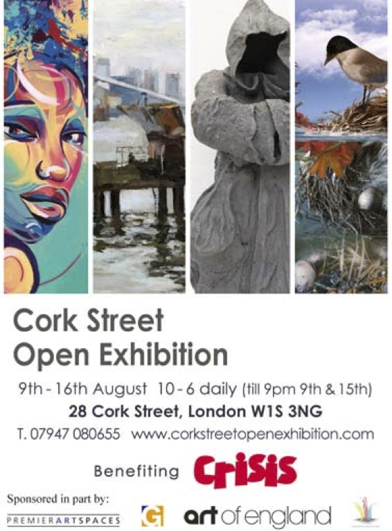 Cork Street Open Exhibition benefiting charity 'Crisis'